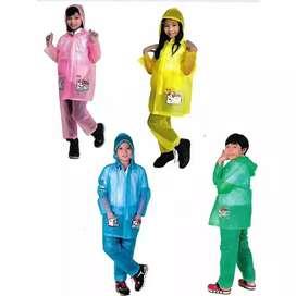 Jas Hujan Anak Setelan Jaket + Celana Elmondo 602