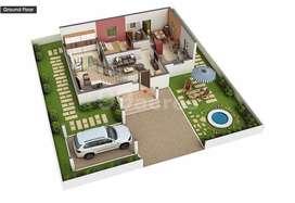 4BHK Super Luxury Villa in 7 Cents