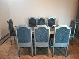 Dinning Table with 8 chairs and 1 show case