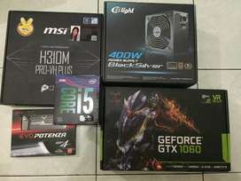 PC Rakitan Gaming High NEW I5 9400F Feat GTX 1060 6GB Garansi Resmi