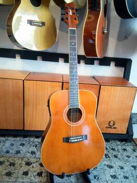 Gitar akustik elektrik cort jumbo