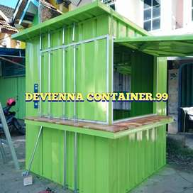 Box container booth kios custom/booth semicontainer
