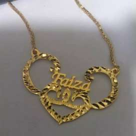 Customized gold plated locket