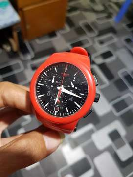 Swatch plastic chronograph red