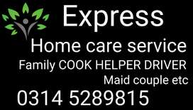 Provide Family COOKS, House MAID, BABY sitter, trained HELPER+cook,,