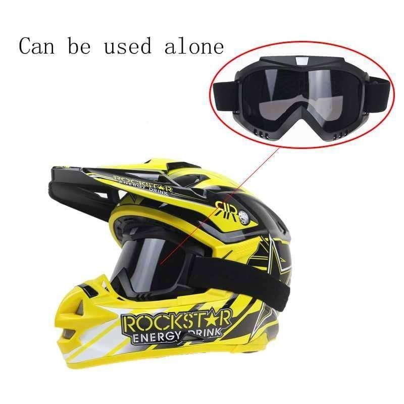 Kacamata Goggle Helm Masker Motor Set Paintball Airsoftgun Trail ID73