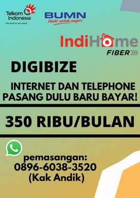 Wifi fiber optik dan telephone rumah