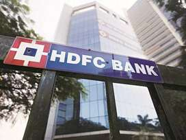Urgent requirement in HDFC Bank for male and female candidate required