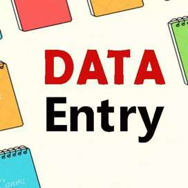 Data entry work from home simple English typing