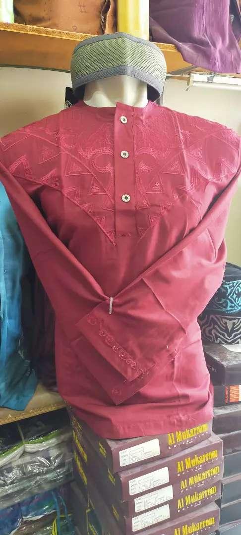 Baju taqwa/koko, lengan panjang semi kaos. Model oblong kancing3