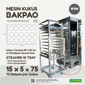 mesin steamer stainless / alat kukus makanan kapasitas besar balikpapa