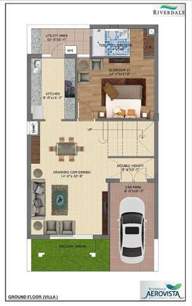 8 Marla 3 BHK Floors with Lifts at Aerocity in just 47.50 Lakh only