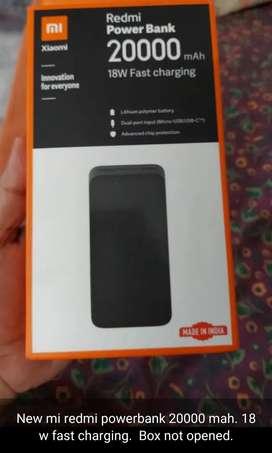 New Mi Redmi Powerbank 20000 Mah- 18w fast charging from Xiaomi