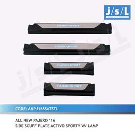 sill plate samping a.n pajero 2016 with lamp