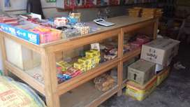 Wooden counter for shop