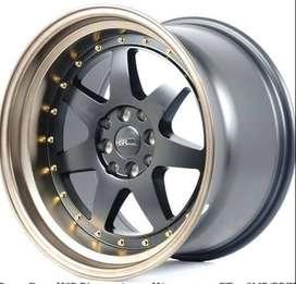 promo cicilan dp10% >> velg hsr power Ring 17x8,5/10 h8x100-114,3