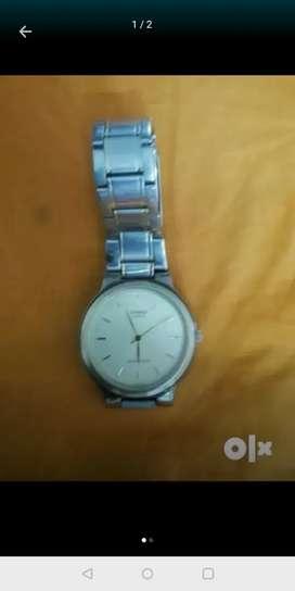 Casio Analog yellow steel strap Classic Watch