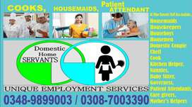 Get The UNIQUE-COOKS, HELPERS, NANNIES, HOUSEMAIDS All Staff Available