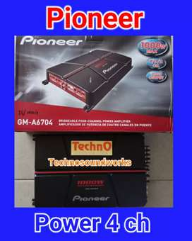 Power Pioneer 4 ch GM A 6704 amplifier for paket sound tv audio cicil