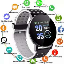 119 Plus Smart Fitness Watch One touch Round Shape
