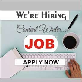 Males and females are needed for writing job