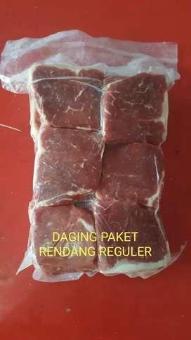Daging sapi untuk rendang dan daging giling
