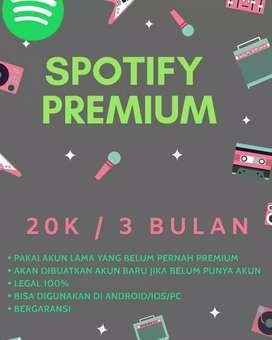 Spotify premium sehari langsung jadi
