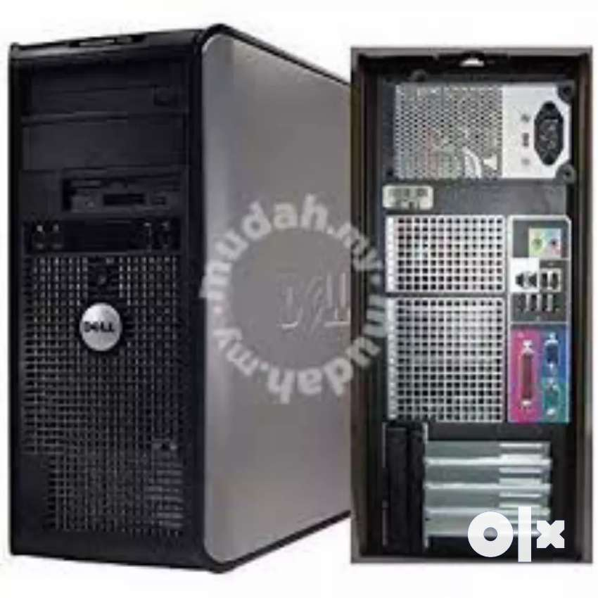 Dell core 2 duo machine 320 GB hard disc 2GB RAM ke sath