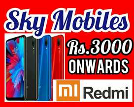 Redmi 4G Mobiles Rs.3OOO onwards Cheap Price Sale, SKY MOBILES