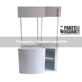 booth portable event desk geroak lipat container boba buble capcin teh