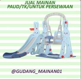 Mainan Indoor Playground Perosotan, RIng Basket Serta Ayunan Murah