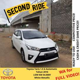 Toyota Yaris G AT 2016, SUPERB CONDITION!!