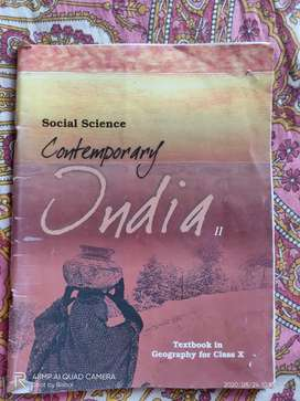 Contemporary India Geography class 10