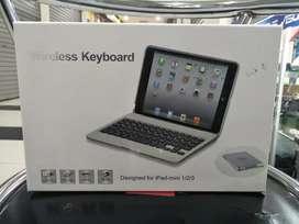Keyboard Wireless dan casing untuk Ipad Mini 1/2/3