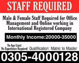 Job for student,males,females/Part time,Full time,Home base Online job