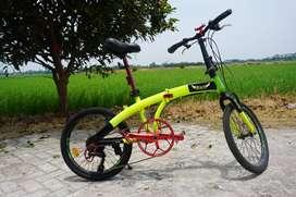 Sepeda Lipat Exotic Sudah di Modif Crank set nya
