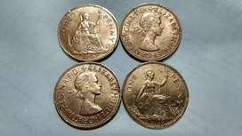 One Penny big old coin of Queen Elizabeth 2
