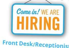 Urgent hiring for receptionist/ tellecaller