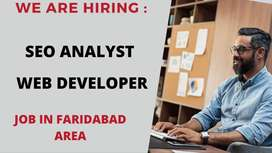 Website developer & SEO Analyst in Faridabad.