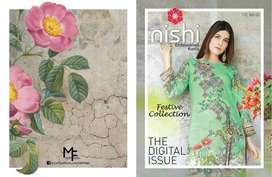 Nishi VOL.3 UN-Stitched Digital Lawn Embroidered Kurti