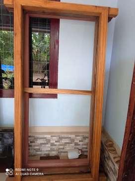 Wood front door katla