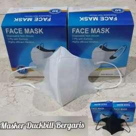 Gratis Antar - Masker Duckbill FACEMASK Earloop Isi 50 pcs