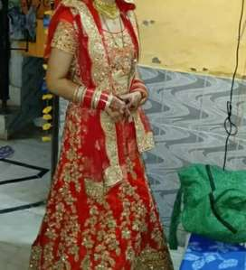 red very beautiful latest gown.urgent sale