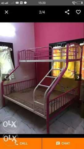Pink And White Metal Bunk Bed own manufacturing factory