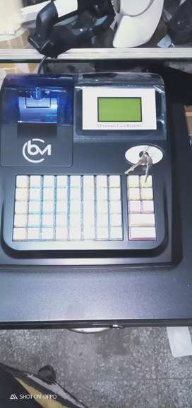 ECR Electronic cash register  till machine with fixed cash drawer