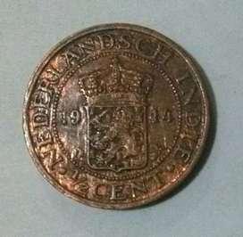 Uang Coin 1/2 Cent Nederlandsch Indie