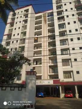Flat for sale @thripunithara, 3 bhk, semi furnished apartment