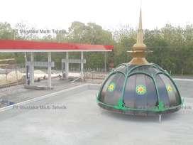 Kubah Masjid Dekoratif Warna
