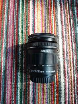 Lensa canon efs 10 18 mm STM