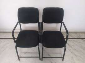 2 Study/office chair with back support , cushioned